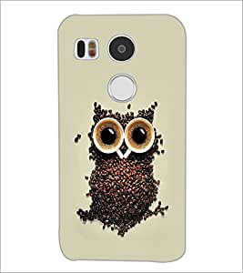 PrintDhaba Owl D-2191 Back Case Cover for LG NEXUS 5X (Multi-Coloured)