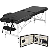 Yaheetech Portable Massage Table 2 Section Folding Couch Bed Height Adjustable Beauty Salon