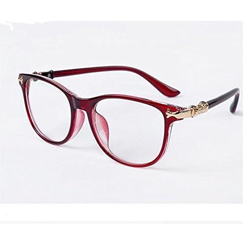 YKQJING Montatura di occhiali moda ladies cornice specchio di miopia telai tempo libero luce uomini