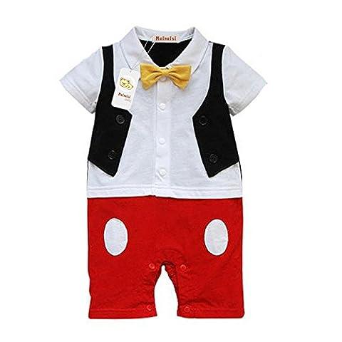 Mainaisi Cute Baby Jungen Monate Kinder One Piece Romper Strampler Smoking für Jungen Monate Gentleman Anzug Verkleidung 95, 12-18 Monate