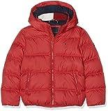 Tommy Hilfiger Jungen Jacke Essential Basic DOWN Jacket, Rot (Apple Red 627), 140 (Herstellergröße: 10)