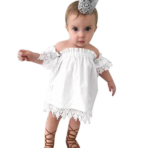 JERFER Casual Kinder Baby Mädchen Prinzessin Spitze Party Top Brautkleid