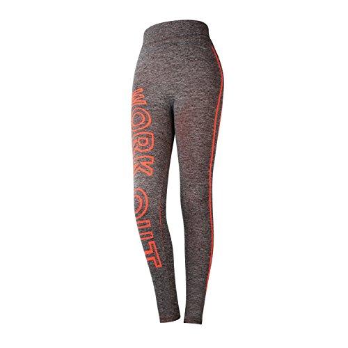 Glamexx24 - Pantalon - Femme Multicolore Multicolore Multicolore - Orange fluo
