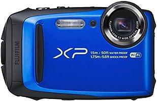Fujifilm FinePix XP90 Fotocamera Digitale da 16 Megapixel, Sensore CMOS, Zoom 5x, Impermeabile 15 Metri, Stabilizzatore Meccanico, Batteria al Litio, Blu