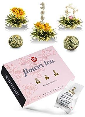 Fleur de thé – Coffret de thé fleurs – Mix de roses artisanal au thé vert– fleur de thé jasmin, calendula et rose – Flower Tea 108