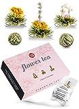 Teeblumen Geschenkset - Tee Geschenk in schöner Präsentationsbox - ein edles Geschenk für Frauen...