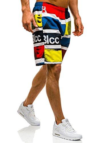 BOLF – pantaloncini da bagno – pantaloni corti – Baggy – Uomo Motivo 7G7 Multicolore_Y719D