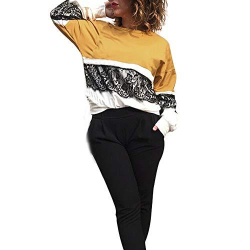 OSYARD Online Damenmode,Bluse Sweatshirt Damen, Frauen Herbst Winter Strickpullover Casual Langarm...
