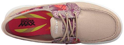 Skechers Go Step Riptide, Chaussures Bateau Femme Taupe Cabana