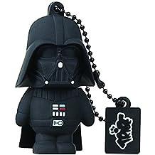 Tribe Disney Star Wars Darth Vader - Memoria USB 2.0 de 8 GB Pendrive Flash Drive de goma con llavero, color negro