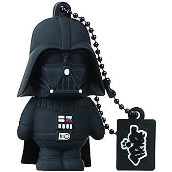 Tribe Disney Star Wars Darth Vader (Dart Fener) Chiavetta USB da 8 GB Pendrive Memoria USB Flash Drive 2.0 Memory Stick, Idee Regalo Originali, Figurine 3D, Archiviazione Dati USB Gadget in PVC con Portachiavi - Nero