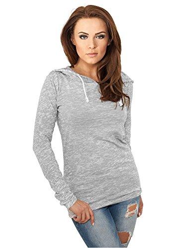 Jeans-jacke-frauen Levis (Urban Classics Damen Hoody Ladies Melange Burnout Loose grau grau XL)