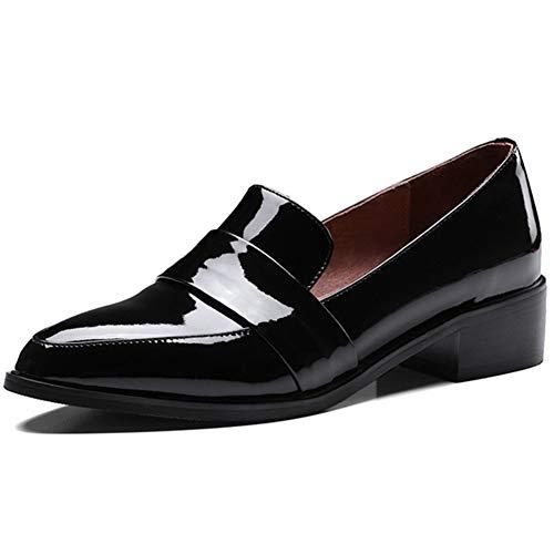 a9099e9ef91 Zapatos Oxford De Mujer Zapatos De Vestir De Charol con Punta Estrecha