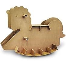 Cavallo a dondolo in cartone, 47 cm al garrese!