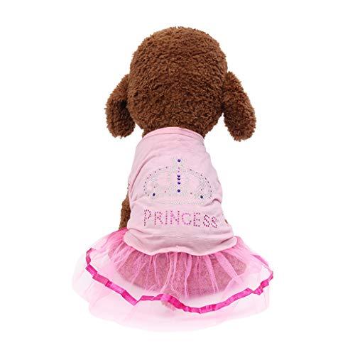 Hunter Kostüm Hunde - Hund Frühling Sommerkleid Kleider Sommer süßer Welpe Hund Haustier Kleid Hunde Prinzessin Haustier Mantel Kleid Kostüm Atmungsaktiv Für Klein Mittel Groß Bichon Teddy