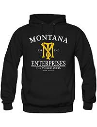Montana Enterprises Kapuzenpullover | Mafia | Tony | Scarface | Al Pacino | Cocaine