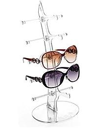 Meyfdsyf amovible 6paires Lunettes Lunettes de soleil spectacle support Rack (Noir)