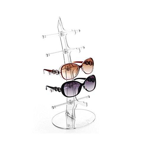 Kicode Herausnehmbare Practical 5 Schichten Brillen Sonnenbrille-Glas-Anzeige Stehen Zahnstangen-Halter-Regal-Tool (Glas-regal-anzeige)