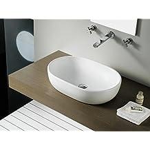 Bathco - Lavabo Bathco Sobre Encimera Oval Toulouse 590X415X145
