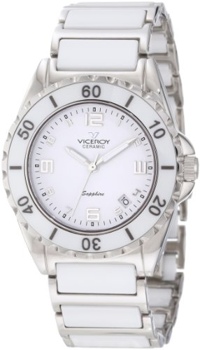 Reloj Viceroy Ceramica Y Zafiro 47548-05 Mujer Blanco