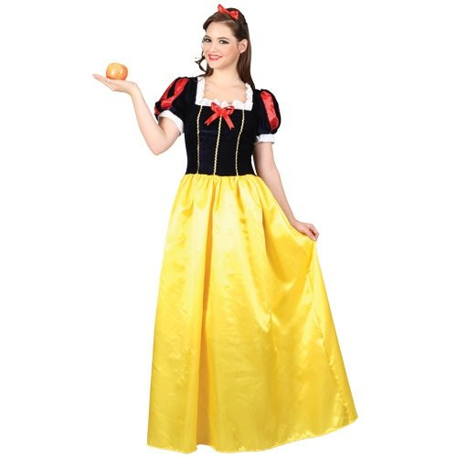 Adult Snow White Kostüm. Kleid und Stirnband. Größe medium 42-44. (Women's Snow White Kostüm)