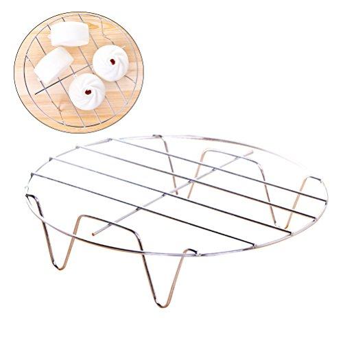 BESTONZON 2Pcs Edelstahl Runde Dampfbügelständer zum Kochen (7,5 'Durchmesser X 1,8' hoch)