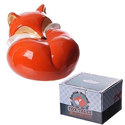 Fun Laying Fox Ceramic Money Box