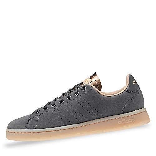 Adidas Advantage, Damen Hallenschuhe, Mehrfarbig (Grisei/Grisei/Stcapa 000), 41 1/3 EU (7.5 UK)