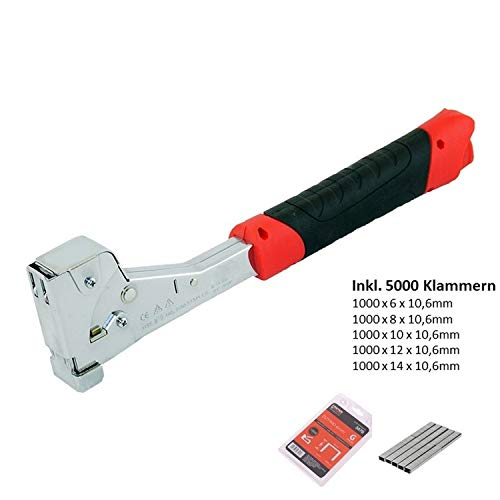 EGA PREMIUM Hammer-Tacker Typ G 4-14mm Modelnr. 3719 schwarz, rot