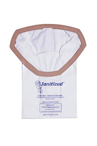 janitized jan-ptscp6-2(10) Premium Ersatz kommerziellen Vakuum Papier Tasche für Proteam Super Coach Pro Staubsauger, OEM # 107314(10Stück) -