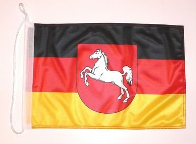 Bootsflagge Niedersachsen Flagge Fahne 25 x 40 cm FLAGGENMAE® Bootsfahne