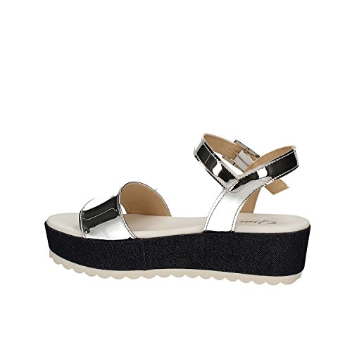 GRACE SHOES MARATEA 11 F 0 Sandalo zeppa Donna Argento