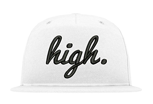 TRVPPY 5-Panel Snapback Cap Modell HIGH, Schwarz-Weiß, B610 - Tisa Hat