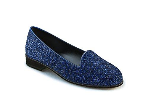 DIS - Lucrezia - Mocassino - Donna, Stardust Glitter Blu Stardust Glitter Blu
