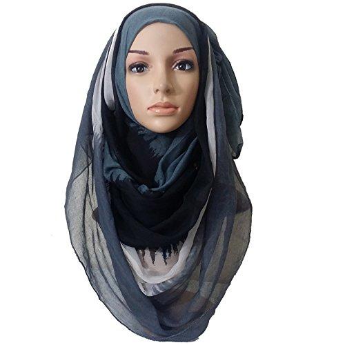 Banana Baazar - Fichu - Femme Black White All Grey