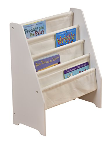 Liberty House Toys Book Display Canvas Pockets, Wood, White Best Price and Cheapest