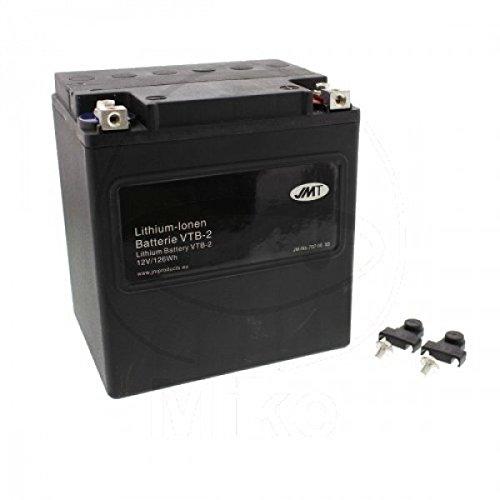 Preisvergleich Produktbild JMT LITHIUM-IONEN VTB-2 Motorrad Batterie V-Twin 12 Volt für V2 Motoren / LiFePO4 / VTB-2 passend für Harley Davidson FLHXS 1690 Street Glide Special ABS,  KRM,  Bj. 2016 [Preis ist inkl. Batteriepfand]