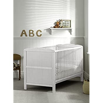 reputable site 37918 6f46f B4Beds© Cot Bed in White or Pine with Mattress-Converts into ...
