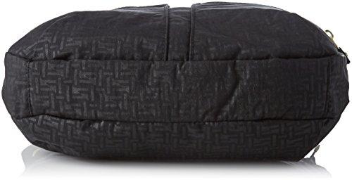 Kipling Izellah - Borse a tracolla Donna, Nero (Black Pylon Emb), 12x33x23 cm (B x H T)