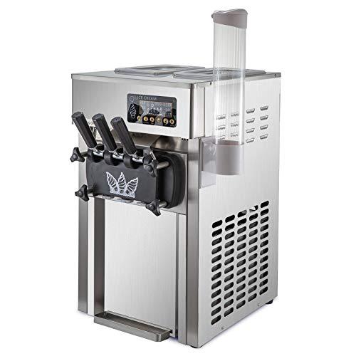 GIOEVO Macchina per Gelato Ice Cream Maker 18L / 4.7 Gallon per Ora Macchina Gelato Professionale 1200W 110V Macchina del Gelato