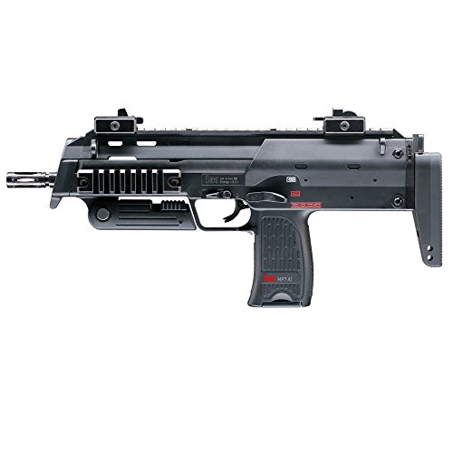 HECKLER & KOCH Softair MP7 A1 mit Maximum 0.5 Joule Airsoft Gewehr, Schwarz, One Size