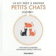 Kit prêt à broder - Petits chats par Anna Lena