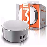 LDNIO A2208 Dual 2 USB Charger And LED Power Touch Lamp