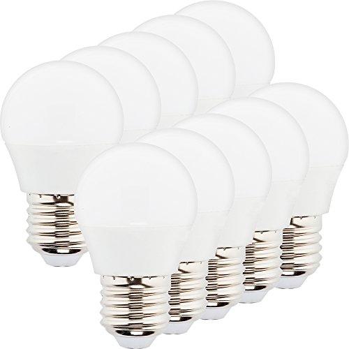 MÜLLER-LICHT 10er-SET LED Lampe Tropfenform Essentials ersetzt 25 W, Plastik, E27, 3 W, Weiß, 10 Stück - 3w Led-licht