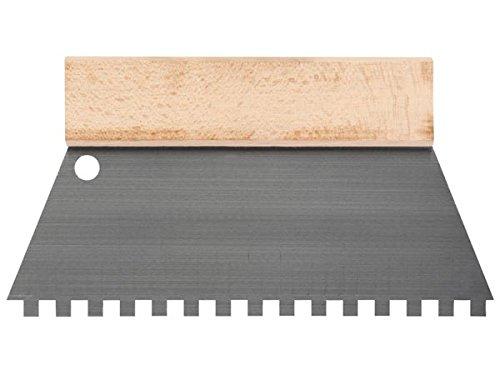 Toolland HE928250 Zahnspachtel, 8 mm x 8 mm, 250 mm Breite