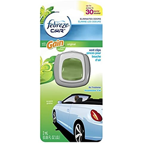 Febreze Rejilla de ventilación de coche clip Ambientador, ganancia Original