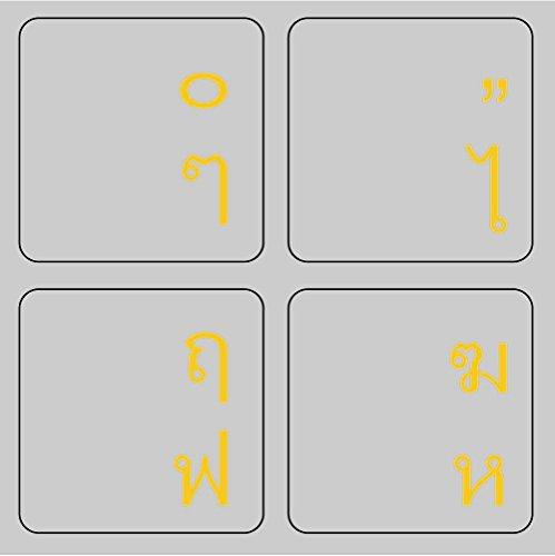 MiNGFi thailändisch Thai Tastatur Aufkleber Gold Buchstaben auf transparentem Hintergrund