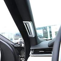 Accesorios de la etiqueta del coche del poste del pilar del ABS plástico accesorios para RR Velar 2017 2018 Plata mate