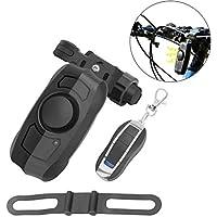 GuDoQi Antirrobo Alarma de Bicicleta Inalámbrico USB Recargable, Bocina de 110dB, Alarma de Disparo de Vibración Antirrobo con Control Remoto para Viajes Deportivos al Aire Libre
