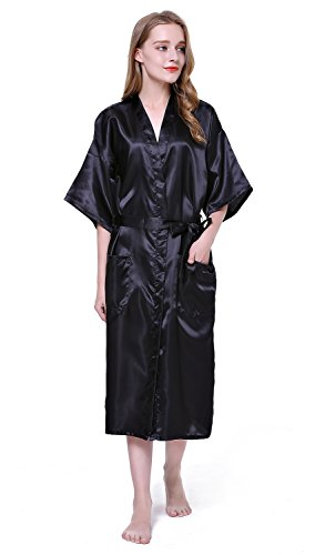 HonourSport-Kimono Japonais Longue Uni Sexy Robe de Chambre-Femme